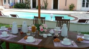 Table d'hôtes terrasse