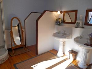 Salle d'eau de la chambre d'hôtes Hortensia – La Maison du Parc – Yzeron