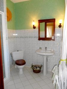 Salle d'eau de la chambre d'hôtes Muguet – La Maison du Parc – Yzeron